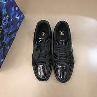 lv louis vuitton men fashion boots fashionable casual leather breathable sneakers running shoes 907