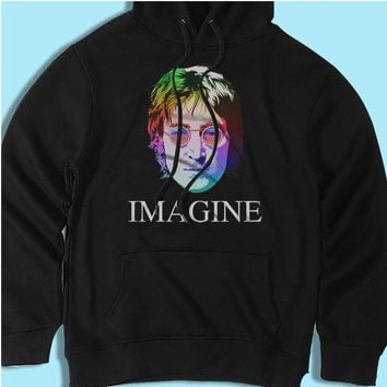 John Lennon Imagine The Beatles Rainbow Men'S Hoodie