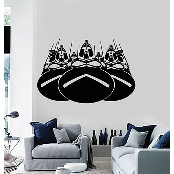 Vinyl Wall Decal Honor Courage Ancient Sparta Spartan Army Warriors Stickers Mural (g3928)