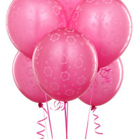 Magenta with Pink Flowers Balloons