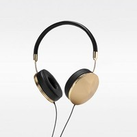 FRENDS Taylor Leather Polished Gold Headphone