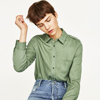 SHIRT WITH SHOULDER TAB