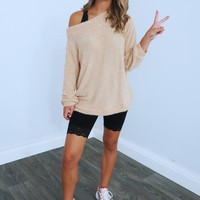 Where To Go Sweater: Beige
