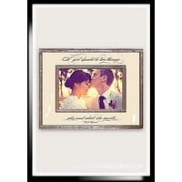 A Girl Should Be Who And What Copper & Glass Photo Frame