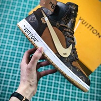 Louis Vuitton Lv X Off White X Nike Air Jordan 1 Sport Basketball Shoes