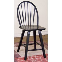 "Sunny Designs Bow Back Stool 24"" In Black"