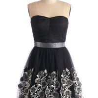 ModCloth Mid-length Strapless A-line Champagne Exchange Dress