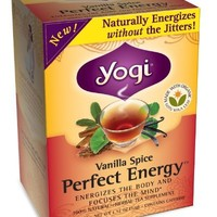Yogi Vanilla Spice Perfect Energy Tea, 16 Count (Pack of 6)