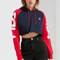 FILA + UO Luisa Colorblock Cropped Hoodie | Urban Outfitters