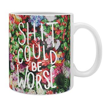 Craft Boner Shit could be worse floral typography Coffee Mug