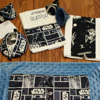 CUSTOM STAR WARS Baby Blanket Burp Cloths Pacifier Pod & PPTeepees New Dad Father's Day Gift Set Geeky Needy Adorable Star Wars Baby Nursery