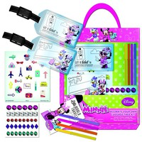 Disney Minnie Mouse Decorate Your Own Luggage Tag Set