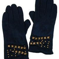 Funky Junque Faux Suede Stud Glove