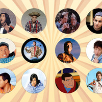ADAM SANDLER Set of 12 - 1 Inch Pinback Buttons or Magnets