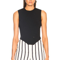 Esteban Cortazar Corset Knit Top in Black | FWRD