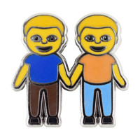 Boys Holding Hands Emoji Pin