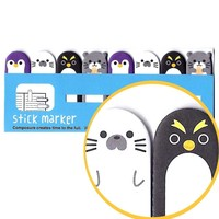 Penguin Shaped Animal Themed Memo Pad Post-it Index Tab Sticky Bookmarks