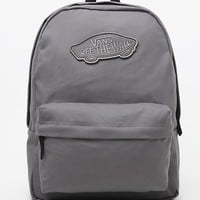 Vans Realm Gray School Backpack - Womens Backpack - Gray - One
