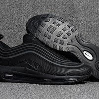 NIKE AIR MAX 97 Black Running Shoes Size 40-47