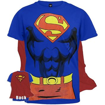 Superman - Costume T-Shirt With Cape