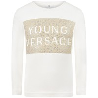 Versace Girls White Studded T-shirt