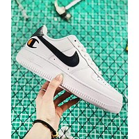 Champion & Nike Air Force 1 Low New fashion logo hook print couple shoes White