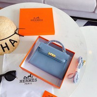 HCXX 19Sep 1024 Hermes Fashion Classic Handle Mini Kelly Bag Minaudiere size 21cm