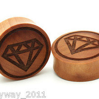 SAWO WOOD DIAMOND BIG EAR GAUGES PLUGS DOUBLE FLARE TUNNEL supply and demand