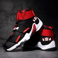 Sufei Hot Men Basketball Shoes Comfortable Female Outdoor Anti-Slip Court Sports Sneakers High Top Breathable Boots Size 36-45
