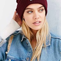 Reason Patch Ribbed Knit Beanie-