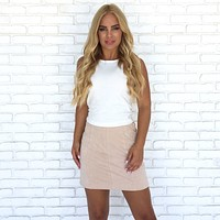 Making Moves Skirt in Taupe