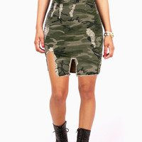 Destroyed Camouflage Skirt