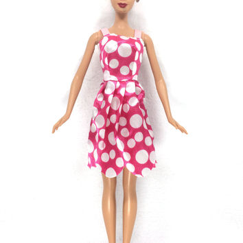 NK 2016 Newest Doll Dress Beautiful Handmade Party ClothesTop Fashion Dress For Barbie Noble Doll Best Child Girls'Gift 027D