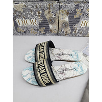 Dior Women's Embroidery Flyknit Slippers Sandals Shoes