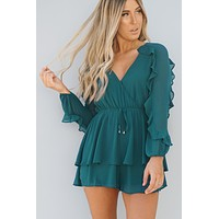 On The Beat Romper (Emerald)