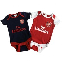 Arsenal FC - Cute Baby Body Suits 2 pack