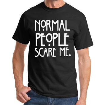 Normal People Scare Me American Horror Story Fashion Funny T-Shirt Top Men NEW