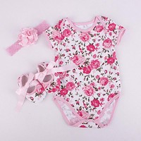 Baby  Outfits Set Clothes 3Pcs  Pink