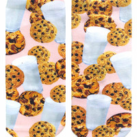 Milk and Cookies Ankle Socks