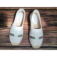 Gucci Popular Woman Leisure Print Shoes Fisherman Shoes Single Shoes