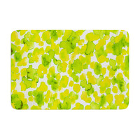 "Ebi Emporium ""Giraffe Spots - Lemon Lime"" Memory Foam Bath Mat, 17"" x 24"" - Outlet Item"