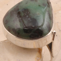 Desirable Cocktail Ring in 925 Sterling Silver Zoisite