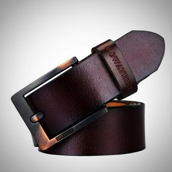 Classic High quality cow leather vintage belts for men