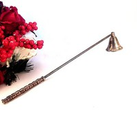 Candle Snuffer Silver Plated Flame Extinguisher  Long Handled Douter Vintage Candle Accessory Home Decor FREE SHIPPING