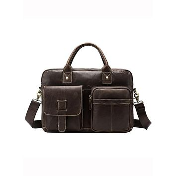 Business Men Messenger  Leather Attache Custom Conference Bags 8503