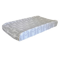 Wanderlust Arrow Crib Bedding | Gray Baby Changing Pad Cover