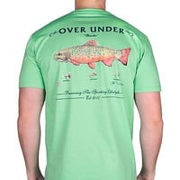 Brook Trout Tee in Bermuda Green by Over Under Clothing