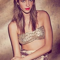 Free People Womens Bali Sequin Bandeau