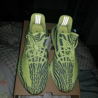Adidas Yeezy Boost 350 V2 Semi Frozen Yellow sz 12