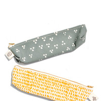 Printed Canvas Pencil Pouch